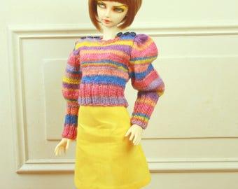 Sweater and Skirt Set for BJD Feeple60 Girls