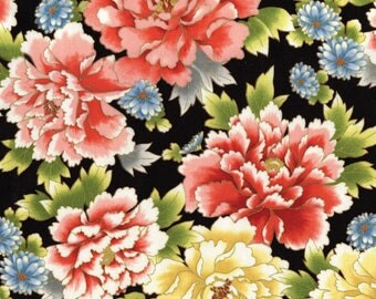 Akahana floral Red Rooster Fabric