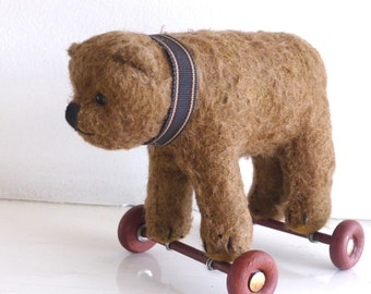 Plugger- a determined little bulldog of a bear on wheels