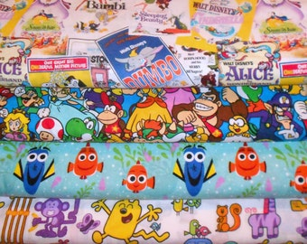 CHARACTER #24 Fabrics, Sold INDIVIDUALLY not as a group, by the Half Yard