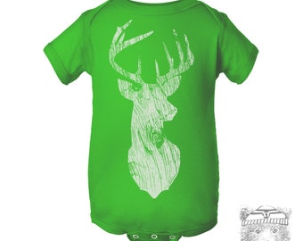 Baby One-Piece DEER Eco screen printed (+ Color Options) FREE Shipping