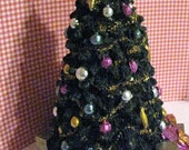 RESERVED for ALEXANDRA,  Dollhouse Christmas Tree, Tall tree, Christmas, dollhouse gifts, Christmas decorations,  Cancer Research, 1/12th
