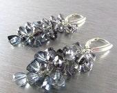 20 Off Grey Mystic Quartz Trillion Cut Sterling Silver Earrings