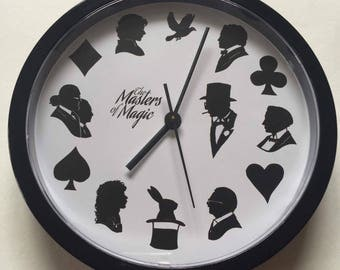 The Masters of Magic Silhouette Wall Clock.