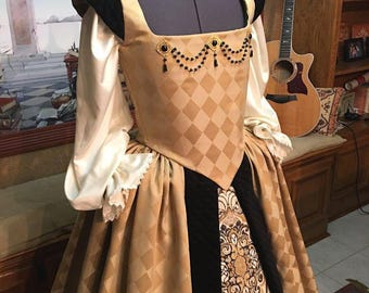Elizabethan Renaissance Court Gown for Nobility or Royalty, Small-Medium, Ready NOW!