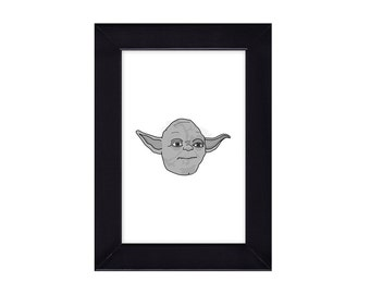 4 x 6 Framed Yoda / Star Wars / Empire Strikes Back Portrait