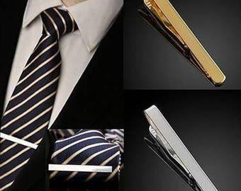 Tie Clip-Silver-Gold-Tie Clip Box-Gift Box-Shops From USA-Wedding-Keepsake-Man Gift-Groom-Groomsmen-Men-Science-Plain tie clip-Man Gift