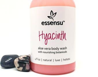 Hyacinth Aloe Vera Botanical Natural Luxury Body Wash | Sensitive Skin | No Sulfates , Parabens or Phthalates | Eco Friendly | Vegan - 4 oz