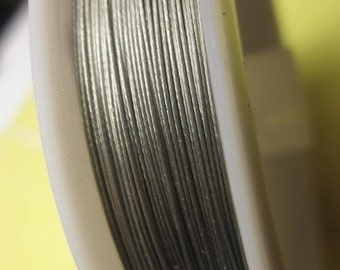 MARCH SALE Supplies - Tiger tail beading wires 0.35mm - Silver 100 metres