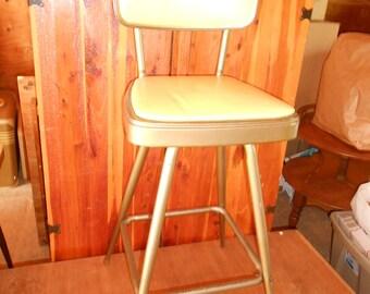 Vintage Mid Century Retro Swivel Stool Counter Bar Chair Metal Industrial