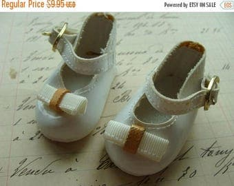ON SALE Vintage Doll Shoes Adorable Buckle Mary Janes Unused