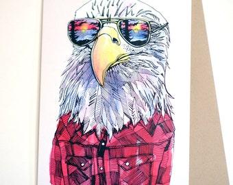 Eagle in Shades Card