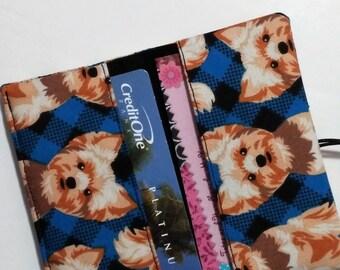 Terrier Business Card Holder Case for Women / Yorkie Dog / Loyalty Cards / Credit Cards / Pocket Wallet / Gift Card Holder