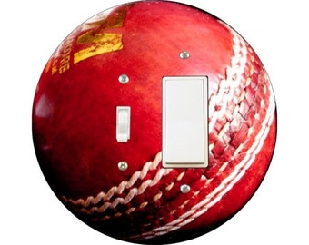 Cricket Ball Toggle and Decora Rocker Switch Plate Cover