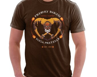 Yoga Pretzel Shirt  - Street Fighter 2 Shirt | T-shirt for Women Men | Video Game T-shirt | Dhalsim | Fighting | Video Games | SF2