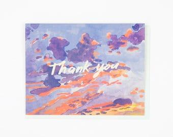 Thank You Evening Sky Card - Set of 8