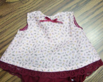 15-17 inch Doll Mauve Top and Bloomers