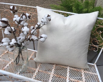 Soft Woven Winter White Wool  Pillow Cover  22x22  Industrial / Lodge / Lake House / Modern Decor  Ready to Ship