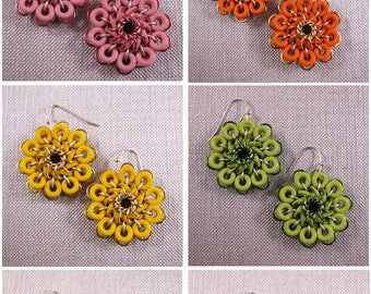 Whirly Flower Earring Kits - Choose Color