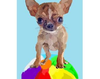 Custom Pet Painting Print Portrait customizable Large Print Poster Nursery Decor Painted Christmas Gift