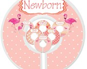 Custom Baby Closet Dividers Pink Flamingo Coral Gold Nursery Tropical Nursery Clothes Organizers Baby Shower Gift Baby Girl by Mumsy Goose