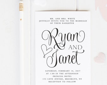 Custom Wedding Stamp - Wedding Invitation Stamp - Custom Stamp - Custom Rubber Stamp - Personalized Stamp - Script, Elegant, Modern - W10