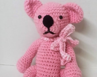 Pink Teddy Bear/Teddy Bear/Plush Toy/Plush Teddy Bear/Stuffed Animal/Stuffed Teddy Bear/Amigurumi/Pink/Soft Toy/Toy/Safe for Babies and Kids