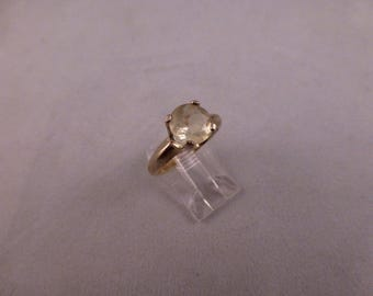 Faceted Libyan Desert Glass Silver Ring. Out of the world