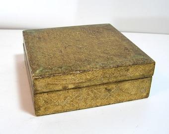 Vintage Florentine Wood Box, Antique Gold Wood Box