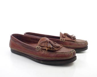 Cole Haan Loafers Brown Vintage 1980s Leather Shoes men's size 9 M