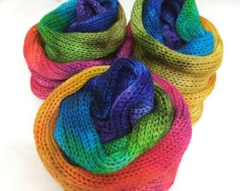 Rainbow Voodoo Handpainted Sock Blank - double stranded (dye batch 4E)
