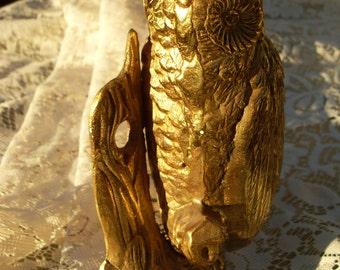 Unique Brass Owl