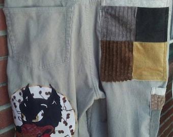 Dire Wolf Grateful Dead  Patchwork Corduroy Shorts