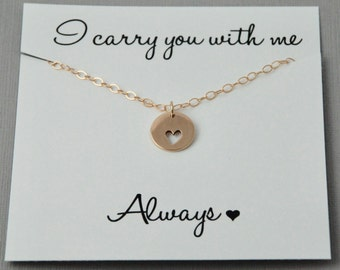 Miscarriage Necklace, Infant Loss Jewelry, Heart necklace, Sympathy gift, Gold heart Necklace