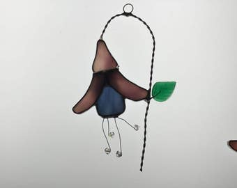 Fuchsia Stained Glass Suncatcher