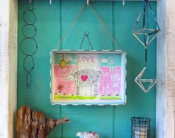 Sheep Folk Art Diorama