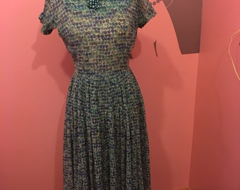 Vintage 50's dress in a sheer lightweight material