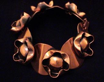 Vintage 1940s RENOIR Modernist Copper Bracelet