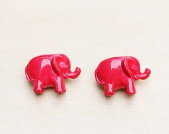 Elephant Pin, Pink Elephant Pin, Animal Pin