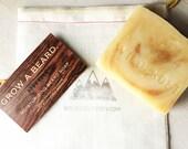 Beard Soap- All- Natural Shampoo and Conditioner for the Beard. Smoky Cedar and Clove with Blackstrap Molasses. 5oz Bar.
