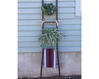 Large Ladder - Metal Ladder - Bookshelf Ladder - Vintage Ladder - Blanket Ladder - Iron  Ladder - Decorative Ladder - Industrial Ladder -