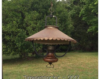 Primitive Lighting - Vintage Pendant Light - Pendant Lighting - Rustic Chandelier - Rustic Lighting - Early Americana - Primitive Colonial