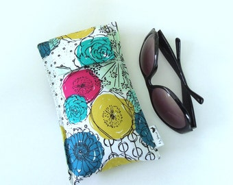 SALE Roomy Sunglasses Case in a Floral Design