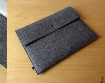 BASIC anthracite macbook pro sleeve macbook air case German wool felt sleeve