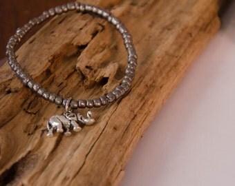 Bracelet éléphant chance argenté