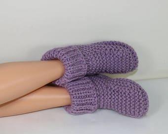 50% OFF SALE Instant Digital File pdf download Knitting pattern- Rib Cuff Super Chunky Slipper Boots pdf download knitting pattern