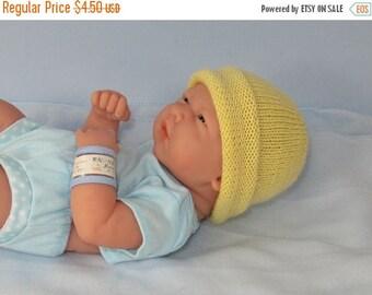 50% OFF SALE instant Digital File pdf download knitting pattern - Preemies, Tiny & Newborn Simple 4 Ply Beanie pdf knitting pattern