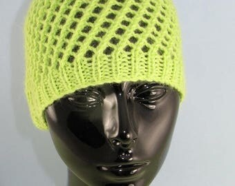 50% OFF SALE knitting pattern digital pdf download - Easy Lace Skullcap pdf knitting pattern