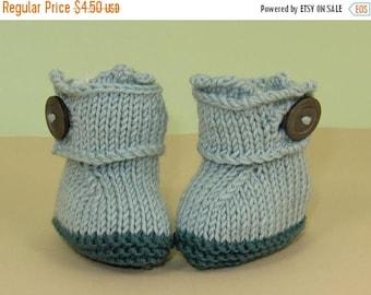 50% OFF SALE Digital pdf files knitting pattern - Baby Big Strap Booties (Bootees) pdf download knitting pattern