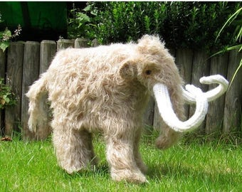 50% OFF SALE madmonkeyknits-Mammoth Woolly Mammoth prehistoric animal toy knitting pattern pdf download dinosaur - Instant Digital File knit
